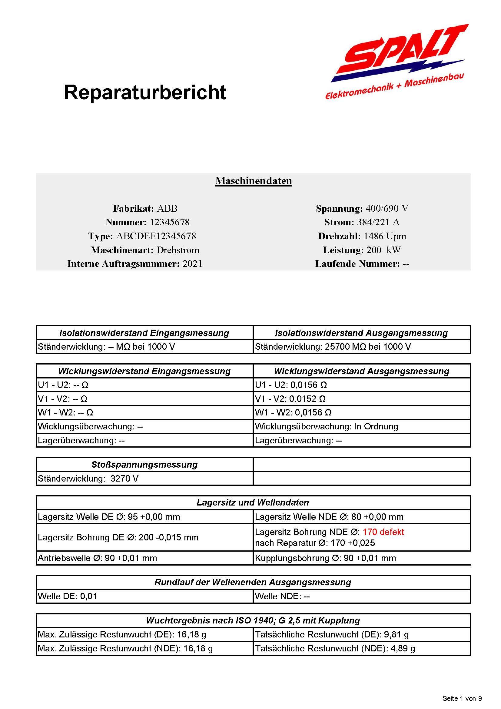 Reparaturbericht Drehstrommotor (002)_Seite_1