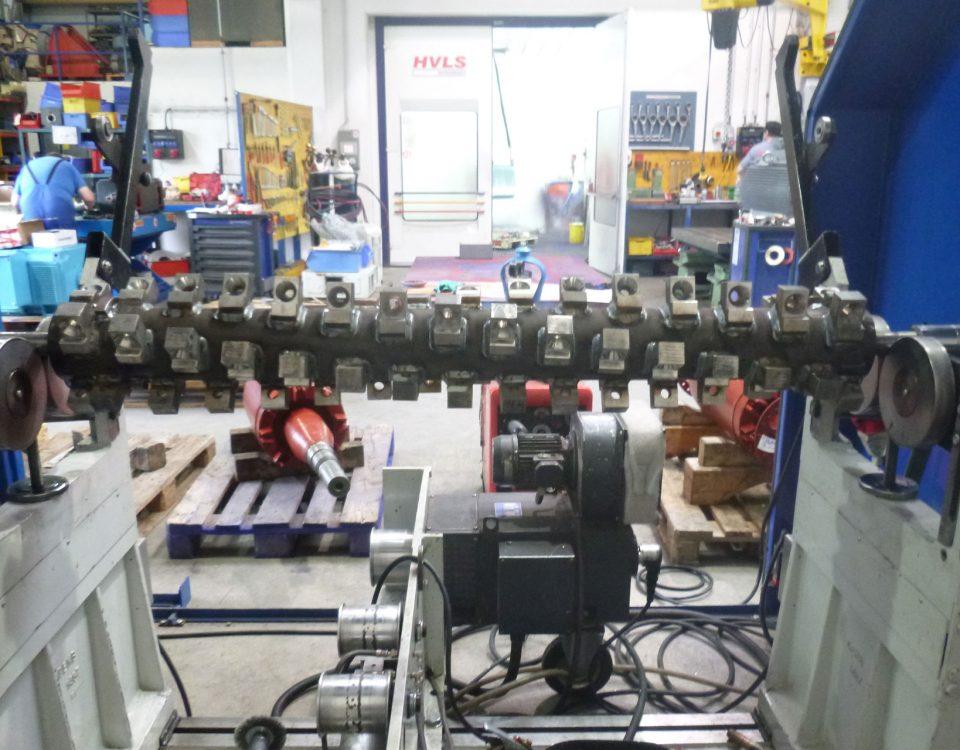 Spalt Elektromechanik und -maschinenbau wuchtet einen Steinbrecherrotor